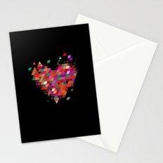 Heart1 Black Stationery Cards