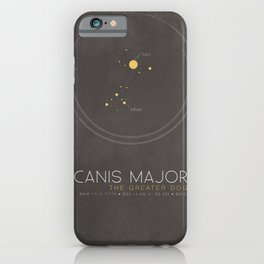 Canis Major - The Greater Dog Constellation iPhone Case