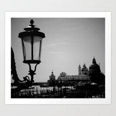 Venice lamp post Art Print