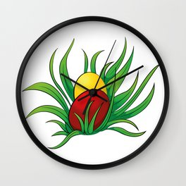 eggs in the grass Wall Clock