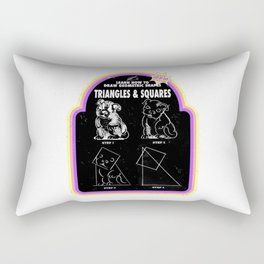 Learn to Draw Triangles & Squares Rectangular Pillow