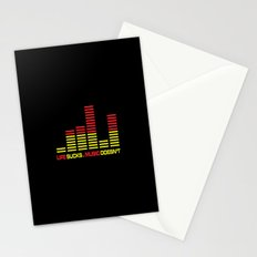 Life Sucks Music Quote Stationery Cards