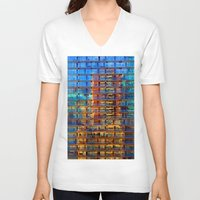 buildings V-neck T-shirts featuring Buildings in Buildings by davehare