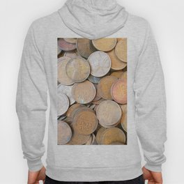 Watercolor Coins, Lincoln Wheat Pennies, 1936 01 Hoody