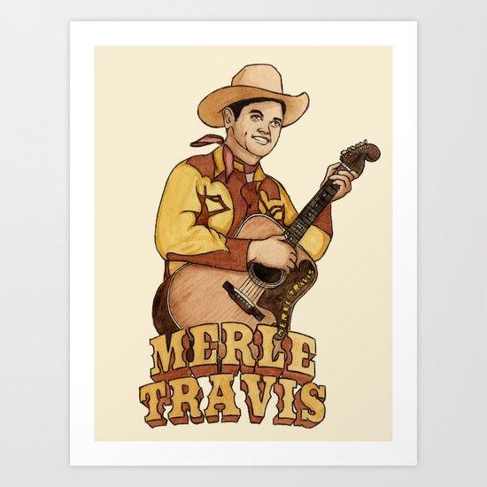 Merle Travis Art Print