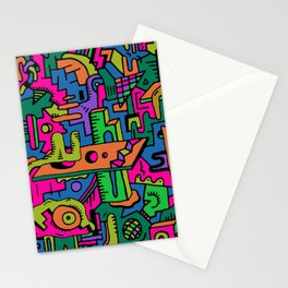 multidimensional maze Stationery Cards