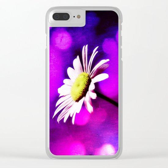 Pink N Amethyst Daisy  Clear iPhone Case
