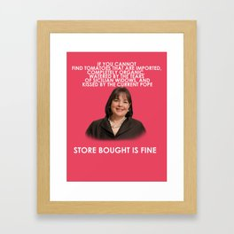 Ina Garten's Instructions Framed Art Print