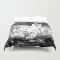 apollonia Duvet Covers featuring asc 512 - La noyade (The drowning) by From Apollonia with Love