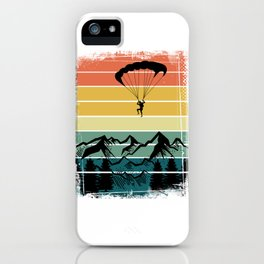 Paragliding Colorful Nature Mountains iPhone Case