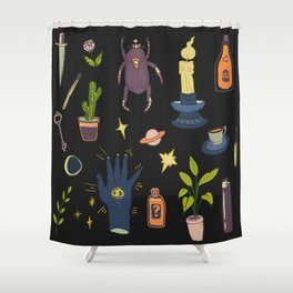 May Flash Sheet Witching Hour Shower Curtain
