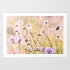 Purple Wildflowers 2 Art Print