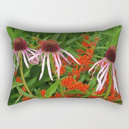 Coneflowers and Butterfly weed 7605 Rectangular Pillow