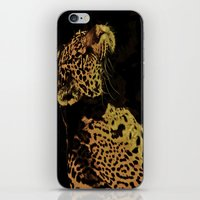 jaguar iPhone & iPod Skins featuring Jaguar by Die Farbenfluesterin