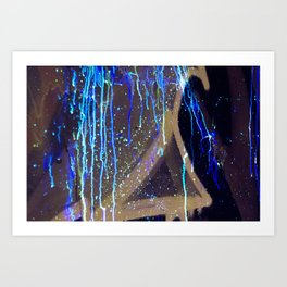 Graffiti & Glow Paint Art Print