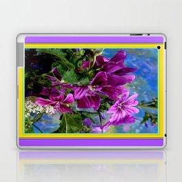 Purple French Hollyhock Flowers Art Design Laptop & iPad Skin