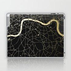 London Black on Gold Street Map Laptop & iPad Skin