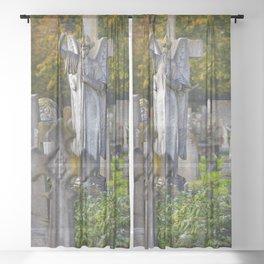 Cemetery Angel Sheer Curtain