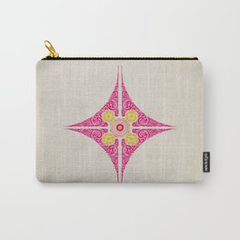 Pata Pattern in Pink & Yellow Carry-All Pouch