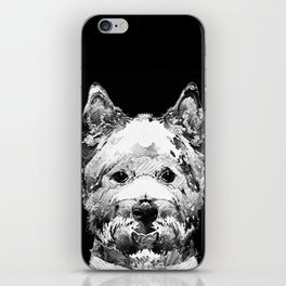 Black And White West Highland Terrier Dog Art Sharon Cummings iPhone Skin