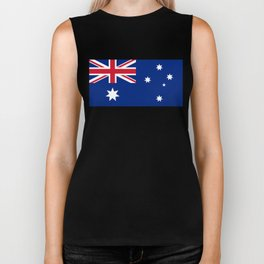 Flag of Australia - Authentic High Quality image Biker Tank