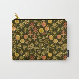 Watercolor autumn forest in doodle style Carry-All Pouch