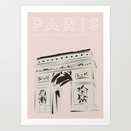 Paris Arc de Triomphe de l'Étoile Travel Poster Art Print