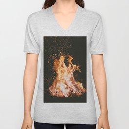 Winter Campfire Unisex V-Neck