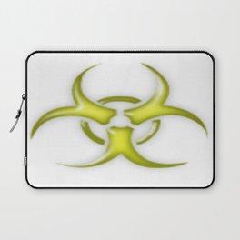 Yellow Biological Hazard Symbol Laptop Sleeve