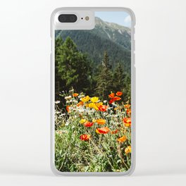 Mountain garden Clear iPhone Case