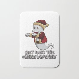 Get Into The Christmas Spirit - Funny Xmas Ghost Bath Mat