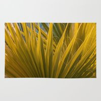 palm Area & Throw Rugs featuring Palm by Moonworkshop