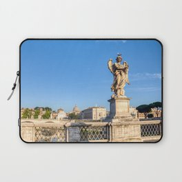 Angel with the Crown of Thorns at the Sant'Angelo bridge - Rome, Italy Laptop Sleeve