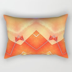 Vibrant South Western Inspired Abstract Rectangular Pillow