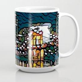 Cincinnati Ohio Night Waterfront Photograph Cartoon Coffee Mug
