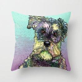 Schnauzer dog. Throw Pillow