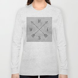 Compass Black and White Tree Long Sleeve T-shirt
