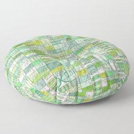 green 13 Floor Pillow