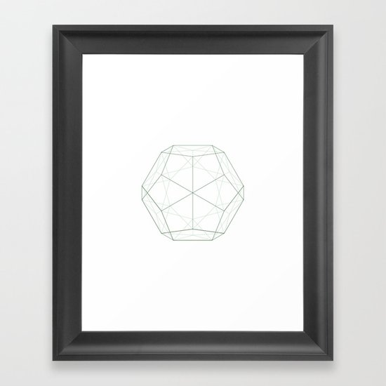 #354 Dodecahedron – Geometry Daily Framed Art Print