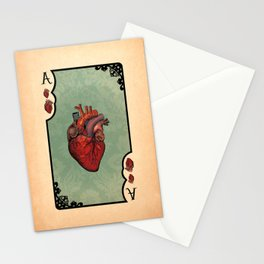 ace of hearts Stationery Cards
