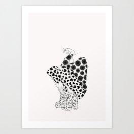 Mixed print fashion illustration Art Print