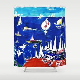 The Marina, Southport, Qld. AUSTRALIA Shower Curtain