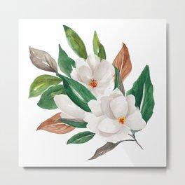 White Magnolia Bouquet I Metal Print
