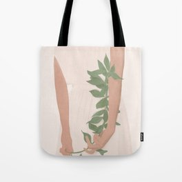 Holding on to a Branch Tote Bag