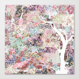 Arlington map Virginia Canvas Print