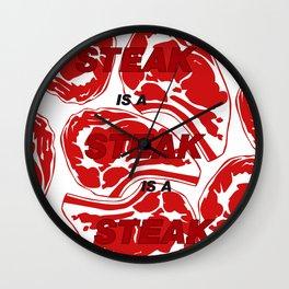 Steak is a Steak - BBQ Wall Clock