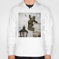 prague Hoodies featuring Prague  Gargoyle by Bella Blue Photography