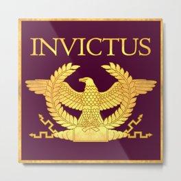 Invictus Eagle on Purple Metal Print