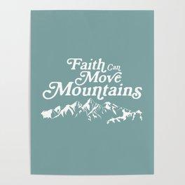 Retro Faith can Move Mountains Poster