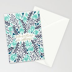 Adventure is Calling – Navy & Mint Palette Stationery Cards